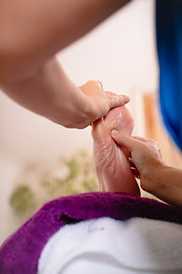 About Reflexology. Looking at foot under my arm